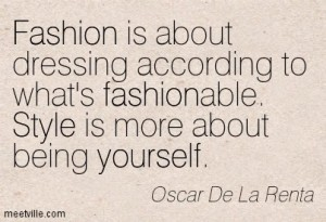 Fashion vs Style x