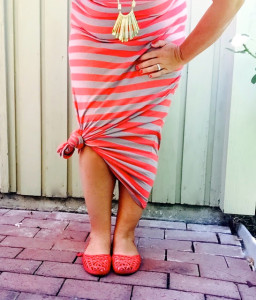 A little striped maxi-dress inspo.