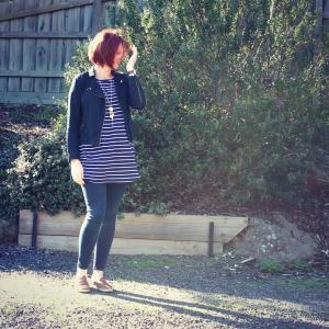me in stripes